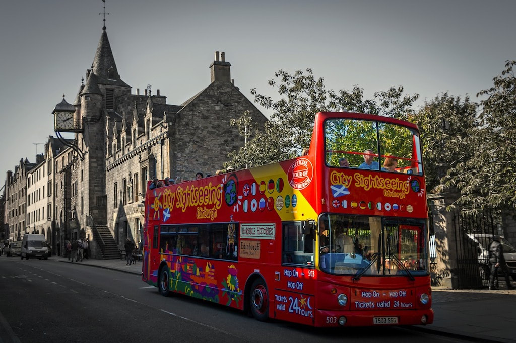 Exploring Edinburgh in a day is easy if you hop on a city sightseeing bus tour