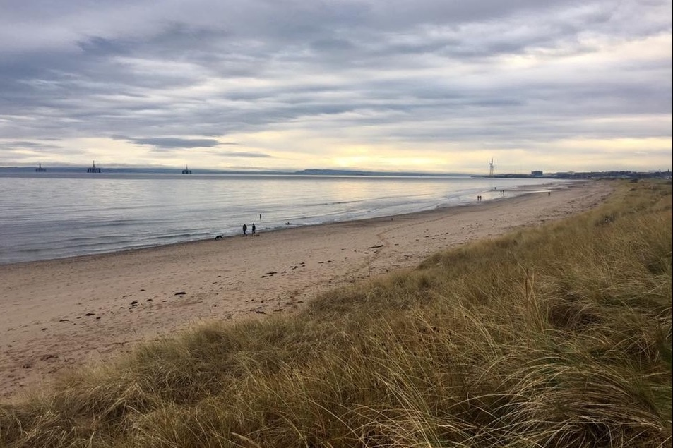 Beach along the Fife Coastal Path