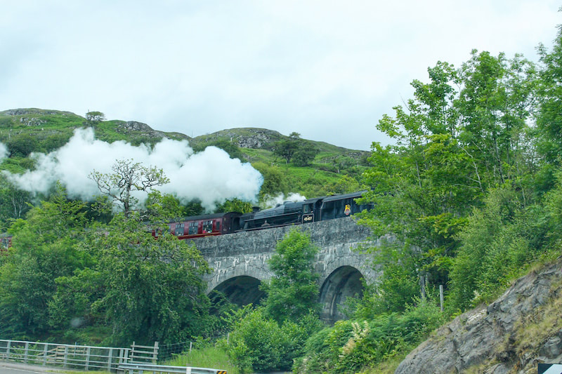 The Harry Potter steam train