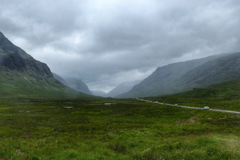 The mountains of Glencoe, a 3 days in Scotland itinerary