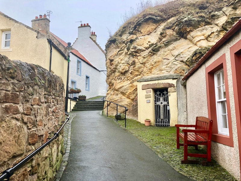St Fillans Cave, Pittenweem, Scotland
