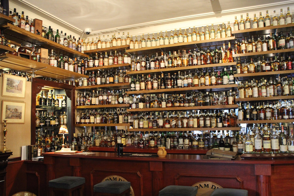 Glenesk Hotel's whisky collection
