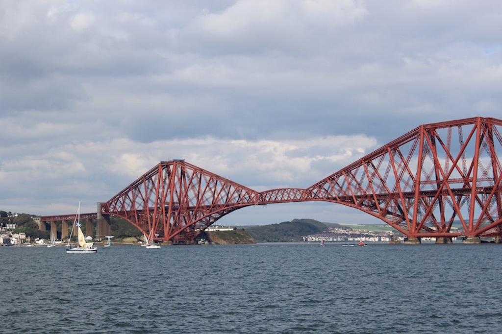Travel Scotland by train, across the Forth Rail Bridge