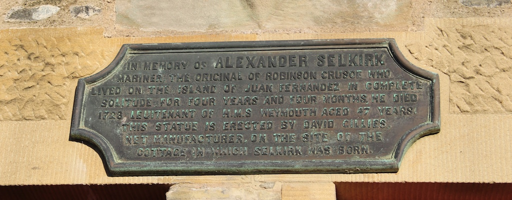 Alexander Selkirk in Lower Largo, Fife