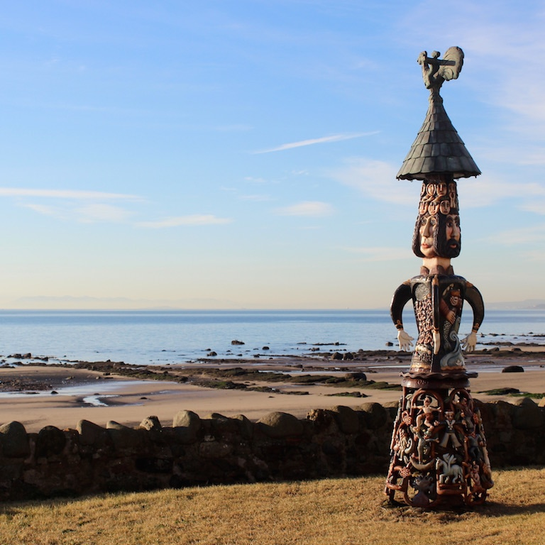 Totem Pole on Fife Coastal Path