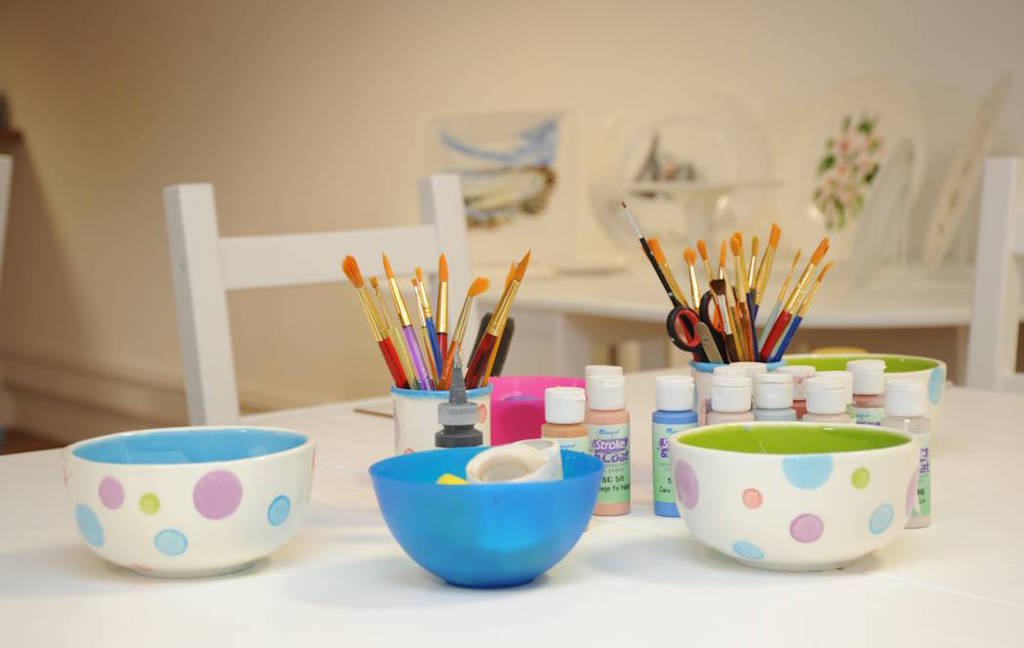 Pottery painting in Scotland
