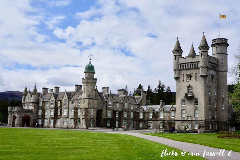 Balmoral Castle in the Scottish highlands