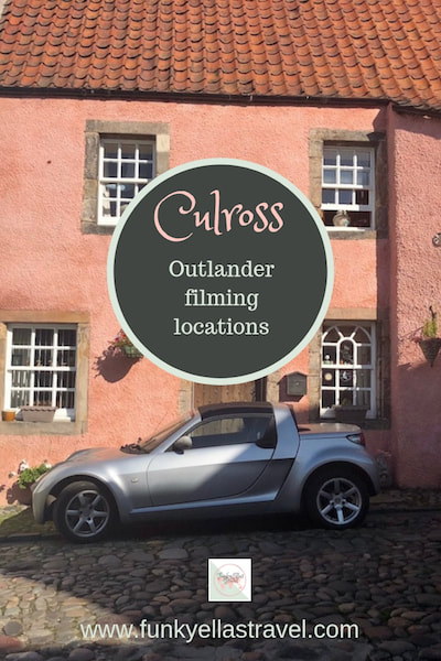 Culross, Outlander filming locations. Culross in FIfe was used in the filming of hit tv series Outlander. It's a beautiful little village kept exactly what it would have looked like in the 17th century with narrow cobbled lanes and colourful cottages.
