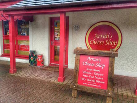Arran cheese shop, Scotland