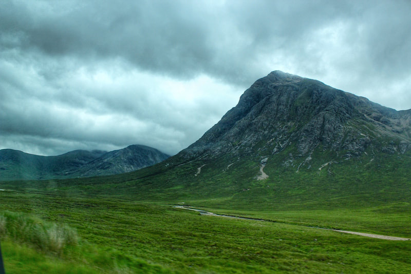 Glencoe Mountains in the highlands