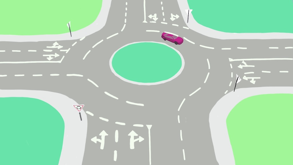 Roundabouts in Scotland