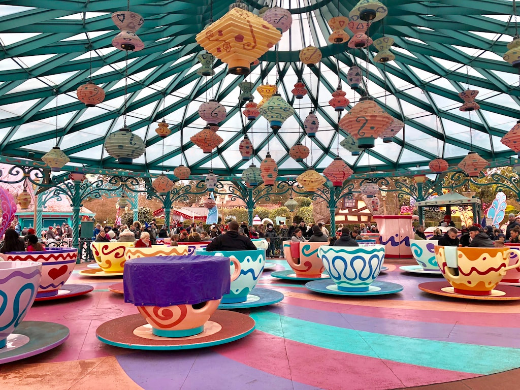 Teacups at Disneyland Paris
