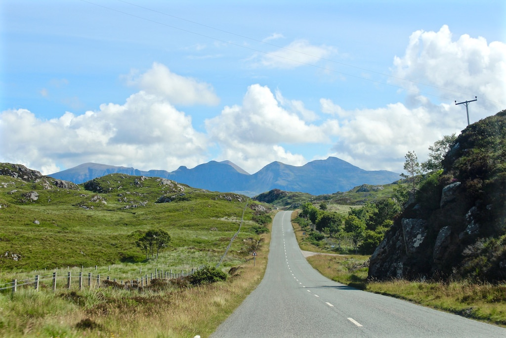 The road to Durness, Scotland