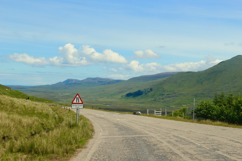 single track road scotland