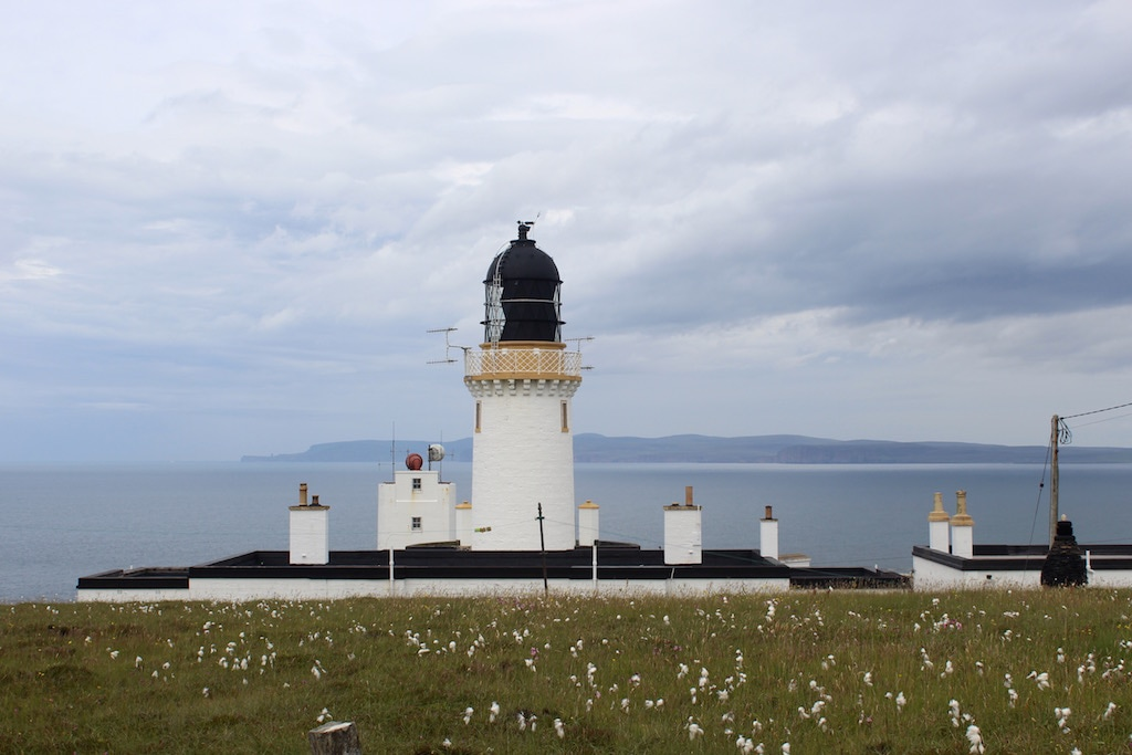 Lighthouse at Dunnet Head on Scotland's North Coast 500
