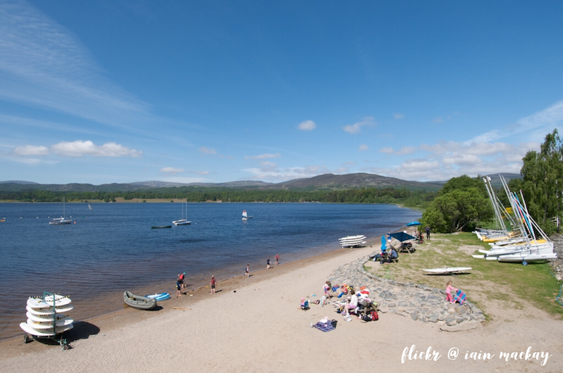 Aviemore things to do, Loch Inch outdoors centre, near Aviemore, Scotland