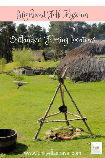 The Highland Folk Museum in Newtonmore was used to film scenes in Outlander. It's an excellent, free to enter museum with stunning views over the Cairngorm Mountain range.