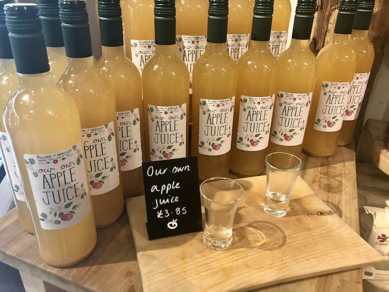 Homemade apple juice from Pillars of Hercules in Fife