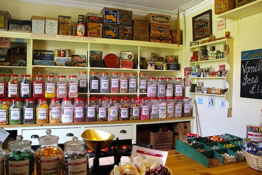 Sweet shop in the museum