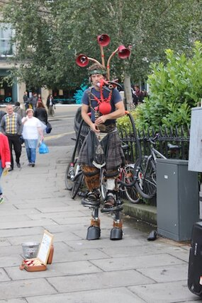Bagpipes at the Edinburgh Fringe