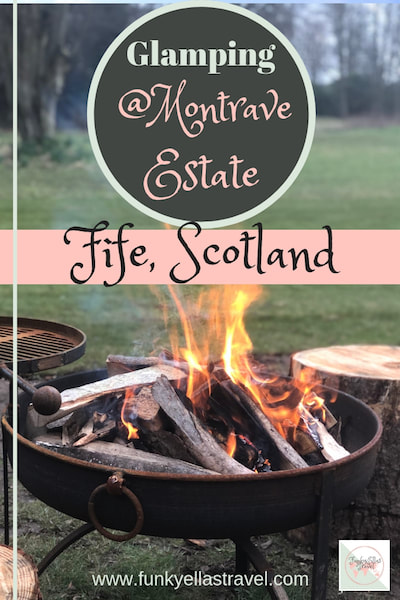 Glamping on the Montrave Estate, Fife, Scotland. Wigwam holidays