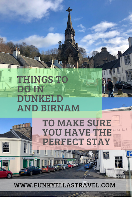 Things to do in Dunkeld and Birnam, Scotland. These two beautiful neighbouring villages are situated in the heart of the Highlands and are perfect as a base to explore the rest of Scotland. #Scotland #Perthshire #Dunkeld